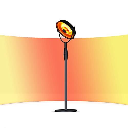 FGPLK Ventilador De Calefacción De Patio Vertical De 2100 W, IP44, Calentador De Terraza Comercial para Interiores Y Exteriores, Temperatura Ajustable, Instalación Extraíble