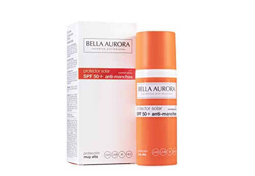 Bella Aurora Fluido Solar Facial Anti-Manchas (Piel Normal O Seca, SPF 50+) - 50 ml.