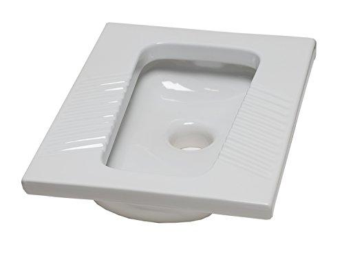 Thermomat 564 Vaso alla Turca per Installazione Filo Pavimento, Bianco