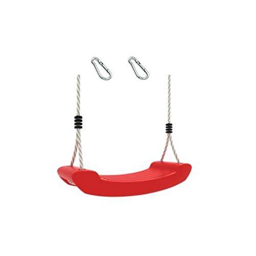 1 Stück h2i Kinder Schaukel rot mit Karabiner zum Einhängen