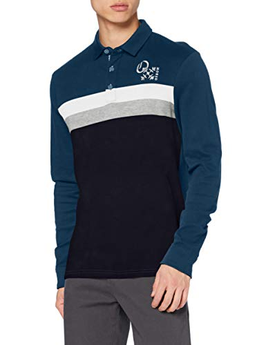 OxbOw M2NOMES Polo Manches Longues Homme, Bleu (Geai), L