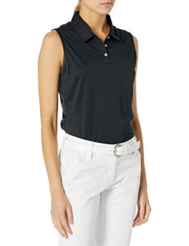 adidas Golf Tournament Sleeveless Polo, Black, Medium