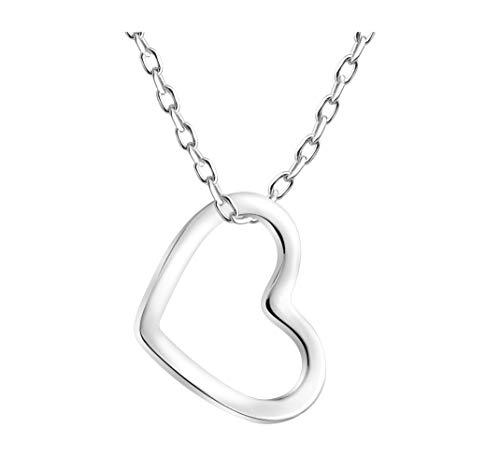 SOFIA MILANI - Damen Halskette 925 Silber - Herz Anhänger - 50129A