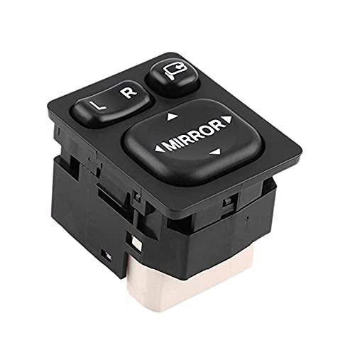 gis 9 Pin Coche Fuera De Plástico Retrovisor Retrovisor Interruptor De Encendido Control 84872-52040 84870-0P010 FIT PARA TOYOTA CAMRY RAV4 (Color : Black)
