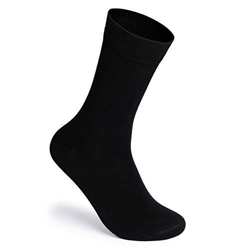 MERISH 10er Business Socken Herren & Damen Schwarz Businesssocken Unisex (39-42, Schwarz)