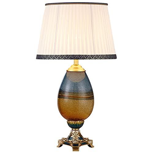 Lampara Mesilla Lámpara de mesa de color de esmalte de lujo lámpara de vidrio de vidrio lámpara de noche creativa nórdica moderna minimalista sala de estar decoración lámpara de atenuación Lámpara de