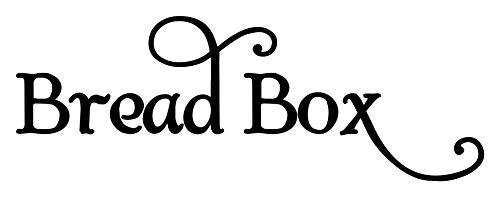 Bread Box Vinyl Sticker - Kitchen Breadbox Label - Die Cut Decal - Swash - 6w x 2h inches - Silver