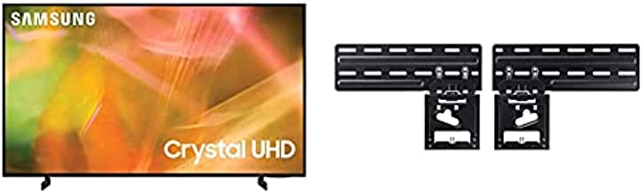SAMSUNG 43-inch AU8000 LED 4K UHD Smart TV with Alexa Built-in (UN43AU8000FXZA, 2021 Model) with Samsung   Slim Fit Wall Mount   WMN-A50EB/ZA   2021