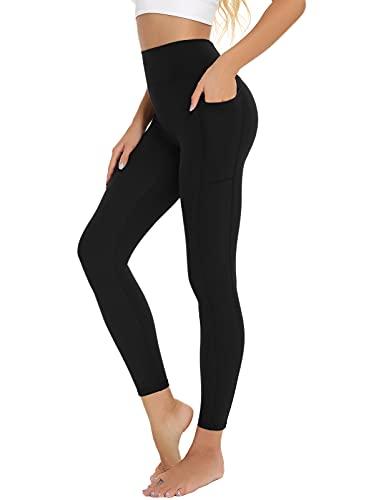 BATHRINS Mallas Deporte Mujer Pantalón Deportivo de Mujer Cintura Alta con Bolsillo para Running Training Fitness Estiramiento Yoga y Pilates