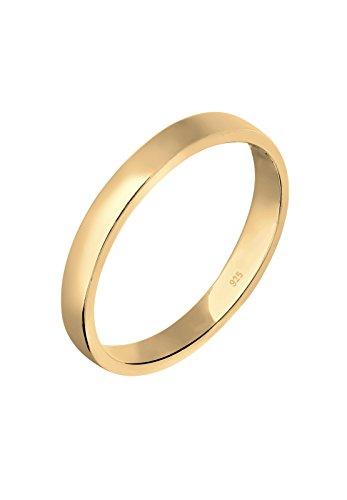 Elli Damen-Ring Basic Zeitlos vergoldet silber 925 Gr. 58 (18.5) 0606730616_58