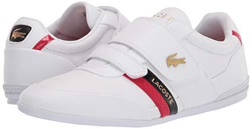 Lacoste mens Misano Strap 0120 1 Cma Sneaker, White/Red, 9 US