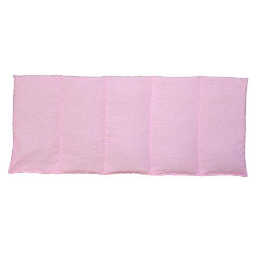 Kirschkernkissen 50x20cm Rosa Wärme + Kältetherapie Körnerkissen 100% Baumwolle