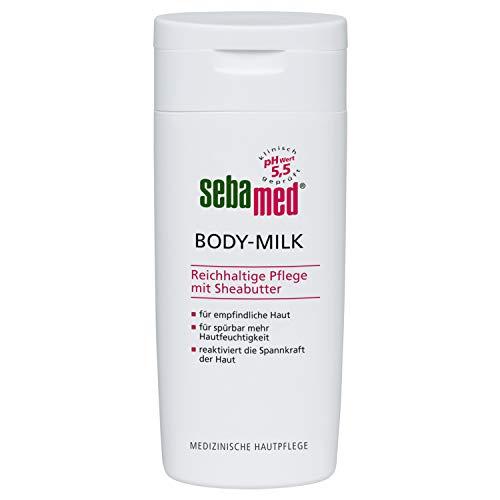Sebamed Bodymilk 200 ml, für spürbar mehr Hautfeuchtigkeit, reaktiviert die Spannkraft der Haut