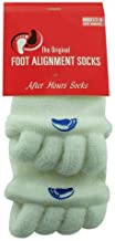 Happy Feet Women's7-9/Men's5-7 Original Foot Alignment Socks, WHITE, MEDIUM