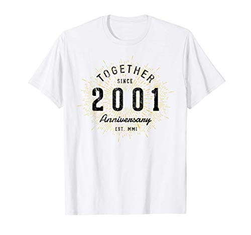 20 Aniversario 20 Años Juntos Desde 2001 Camiseta