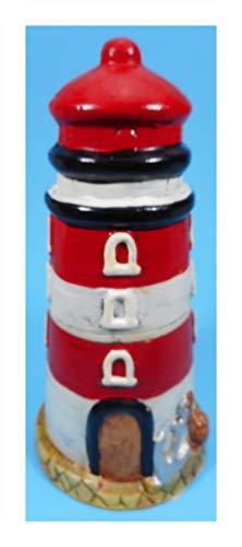 N / A Spardose Leuchtturm rot weiß 20 x 10 cm Ø Sparbüchse Figur Deko E21