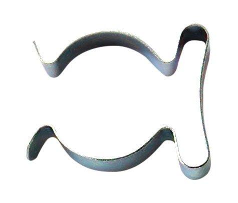 Bulk Hardware BH04496 50 mm Glänzend verzinkter Werkzeug-Clip (Packung à 2), Weiß, 2 Stück
