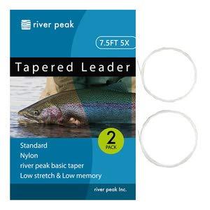 リバーピーク(river peak) フライリーダー テーパードリーダー 5X 7.5FT 2.28m 3.7lb ナイロン
