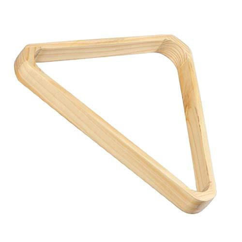 ZHTY Billard-Dreieck aus massivem Holz, 57,2 mm, 8-Kugel-Rack für Billard-Billardtisch-Zubehör in Standardgröße von 2-1/4