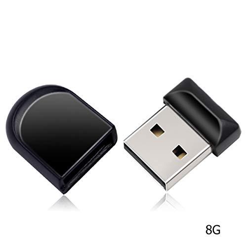 MARSPOWER Super Mini USB Flash Drive Impermeable 4gb 8gb 16gb 32gb 64gb Pendrive USB 2.0 Capacidad Real Memory Stick Flash Drive Pen Drive - Negro 8G