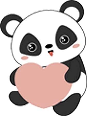 Amazon Com Cute Sweet Panda Bear Cartoon Valentine Emoji Vinyl Sticker 8 Tall Arts Crafts Sewing
