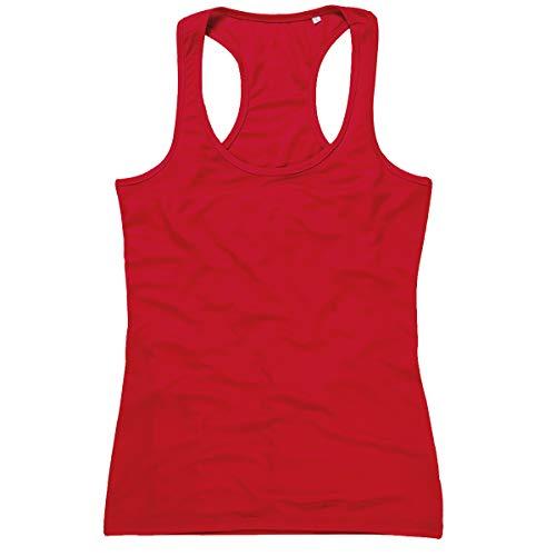 adidas Active 140 Tank Top de Deporte, Rojo carmesí, 38 para Mujer
