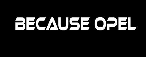 Because Auto Dekor Aufkleber passt zu Opel Windschutzscheiben Heckscheiben Sticker / Plus Schlüsselringanhänger aus Kokosnuss-Schale / Car Astra Corsa Crossland Mokka Motorsport Racing Tuning (2)