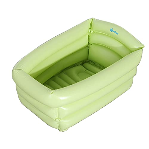 SCV Clásico Mini Piscina para Niños Piscina De Baño Plegable Inflable para Bebés Piscina De PVC Más Gruesa Duradera Cálida Lavabo De Ducha De Playa De Verano para Niños Mayores De 3 Años (Green)