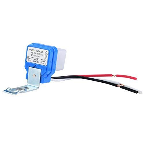 Luz de Calle Ajustable Fotocélula Photoswitch Sensor Inteligente Interruptor de Control de Luz Automático Automático Encendido / Apagado Interruptor Automático Sensor Ca 12v / 24v / 110v 10a(220V)