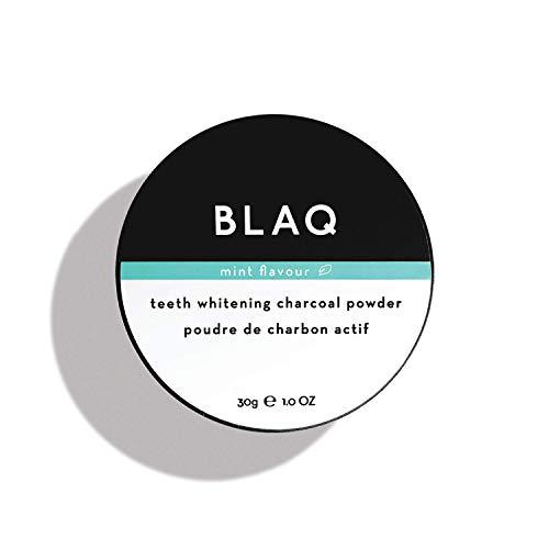 BLAQ Teeth Whitening Charcoal Powder | Natural Tooth Whitening for Sensitive Teeth | Great Stocking Stuffer | Activated Charcoal Tooth Whitener Strengthens Enamel, Improves Gum Health - 30g/1oz
