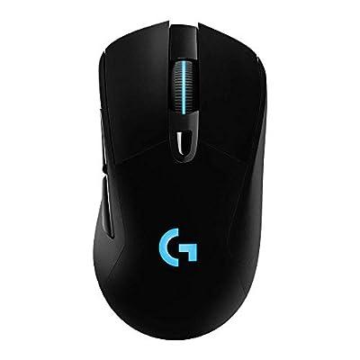 Logitech G703 Lightspeed Wireless Gaming Mouse W/Hero 16K Sensor, PowerPlay Compatible, Lightsync RGB, Lightweight 95G+10G Optional, 100-16, 000 DPI, Rubber Side Grips - Black from Logitech