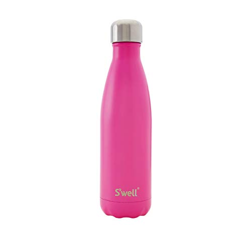 S'well Vacuum Insulated Stainless Steel Water Bottle, 17 oz, Bikini Pink