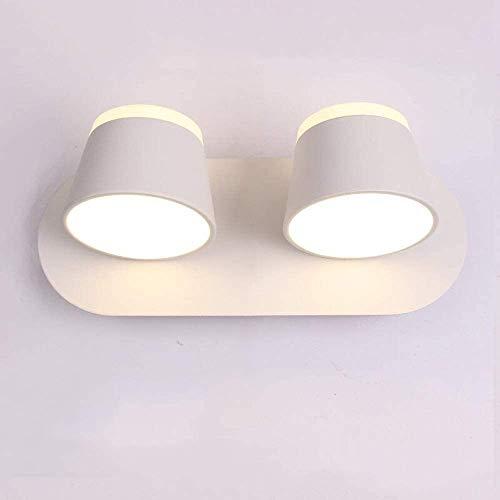 Lámpara De Pared Simple Y Fresca 2 x 8W ligero de la pared de la cabecera de doble cara suave luz de la pared Lámpara colgante simple moderno del dormitorio de noche LED de lectura lámpara de pared Fo
