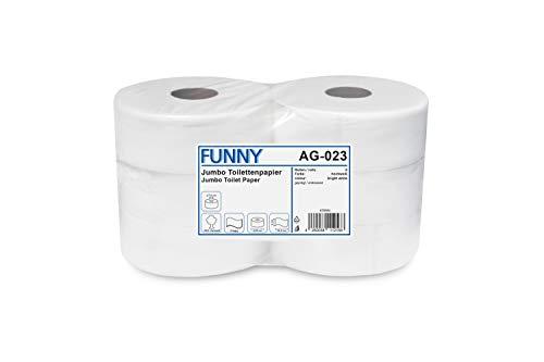 Funny Jumbo - Toilettenpapier 2 lagig hochweiß, Durchmesser circa 28 cm, 1er Pack (1 x 6 Stück)