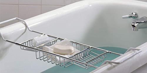 SANNO バスタブトレー バスラック バステーブル 伸縮式 ステンレス バスタブラック スマホ iPad 収納 浴槽 ...