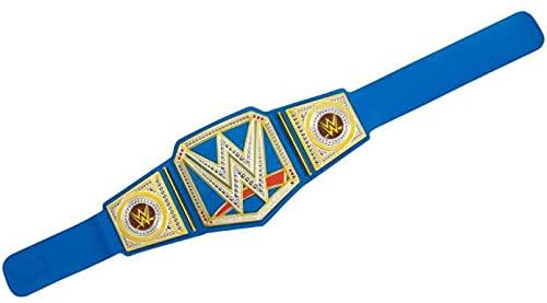 WWE HBX67 - Championship Gürtel im originalgetreuen Design mit Metallic-Medaillen und Gürtel in Lederoptik mit verstellbarer Länge für Kinder ab acht Jahrenn, ab 6 Jahren
