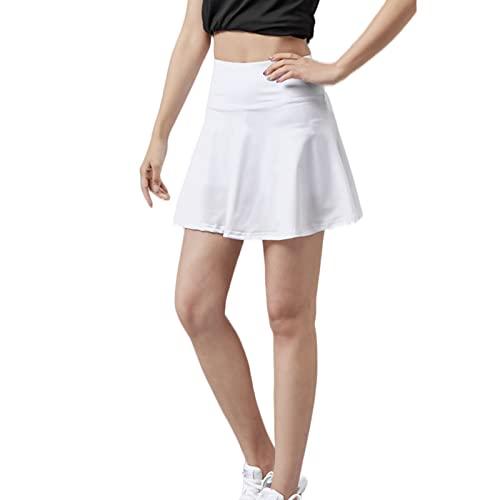 Hhwei Falda Deportiva De Yoga para Mujer De Verano, Falda Corta De Tenis Y Golf Transpirable De Secado Rápido con Bolsillos