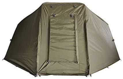Carpline24 Skin für Angelzelt Economic I 1-Mann-Brolly Zelt-Überwurf I leichter Aufbau I 1-Person Camping Kuppel-Zelt I Karpfenzelt wasserdicht 10.000mm Wassersäule Außenzelt 255x240x130cm 10kg