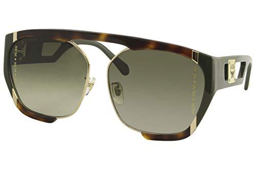MCM MCM672SA, Acetate - Gafas de sol Havana/Olive unisex adulto, multicolor, estándar