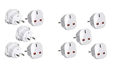 Travel Adapter Schwarz UK zu EU pin Konvertieren Power europäischen Stecker Konverter Euro 10 Stück