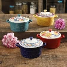The Pioneer Woman Mini Casserole with lids -4 pack