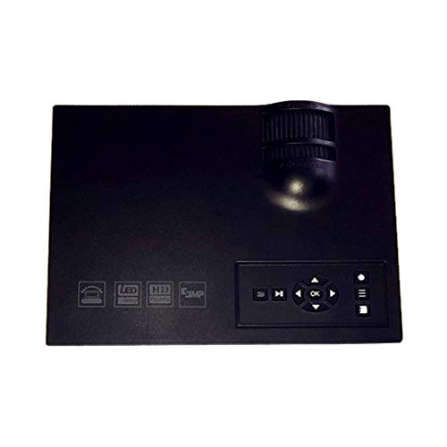 HongLianRiven Beweegbare projector, zwart en wit, 800 * 480dpi, draadloze verbinding mobiele telefoon, LED-beamer, 20 x 15 x 7 cm, 11-14