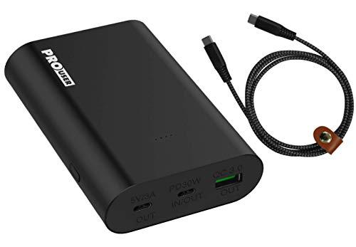 Pro User Powerbank 15000mAh: super schneller Hochleistungs-Akku mit 63W, USB-C Power Delivery PD und Quickcharge, Inclusive USB Kabel und Travel Case: lädt Laptop, MacBook, iPad, Smartphone usw.