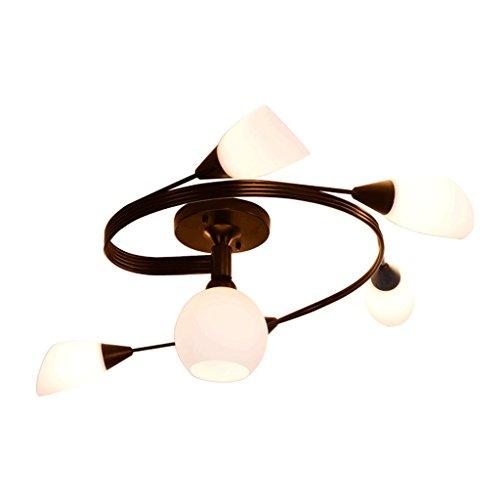 Lámparas de techo rústicas Lámpara de techo simple moderna del hierro labrado, lámpara de techo creativa del estudio de la sala de estar de la personalidad creativa, lámpara de techo caliente romántic