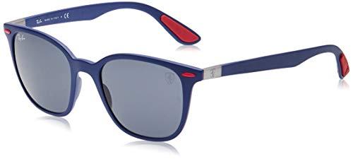 Ray-Ban Herren 0rb4297m Sonnenbrille, Mehrfarbig (Matte Dark Blue), 50.0