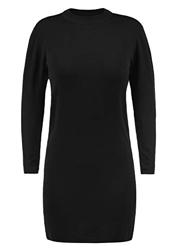 JACQUELINE de YONG Kelly Damen Strickkleid Feinstrickkleid Mit Turtle-Neck Kragen, Größe:L, Farbe:Black