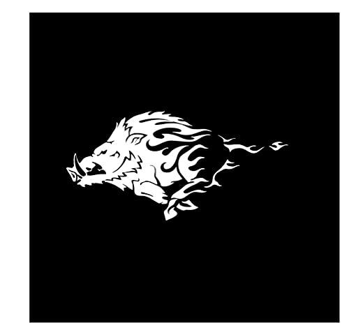 MDGCYDR Pegatinas Coche Personalizadas 30 Cm X 14,9 Cm Jabalí Cerdo Tribal Animal Coche Pegatinas Motocicleta Calcomanía Cubierta Arañazos Vinilo Impermeable Kk PVC