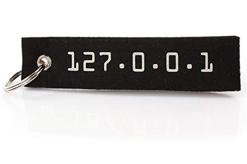 Filz Schlüsselanhänger 127.0.0.1