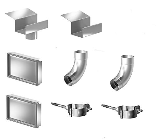 Montageset für Kastendachrinne Simpel Aluminium Natur
