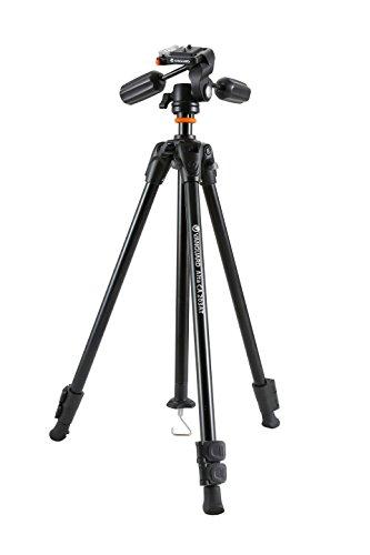 Vanguard Alta CA 203APH - Trípode de aluminio para foto, vídeo y telescopio, de 3 vías y dos manetas